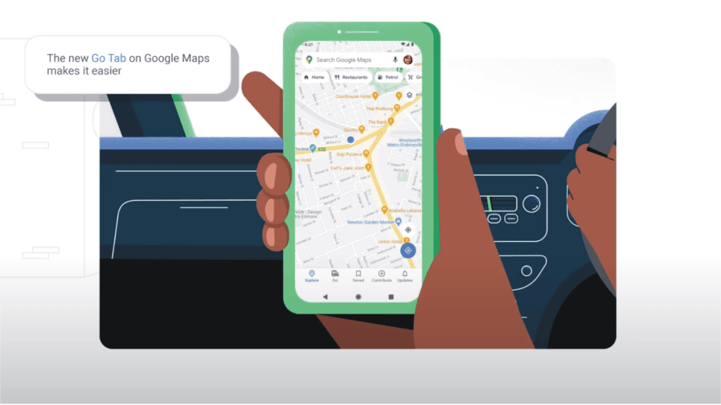 """Google Maps announces the introduction of a """"Go Tab"""" to its app"""