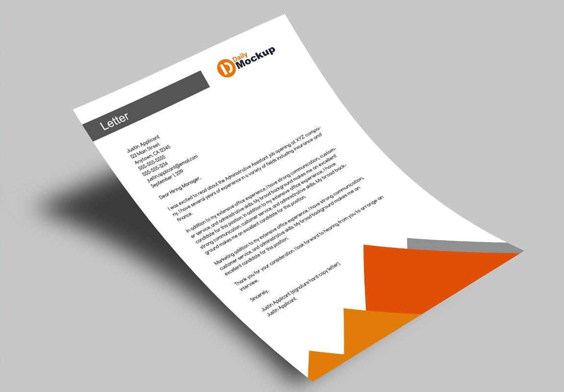 A4 Letterhead Paper Mockup Free 2021 - Daily Mockup