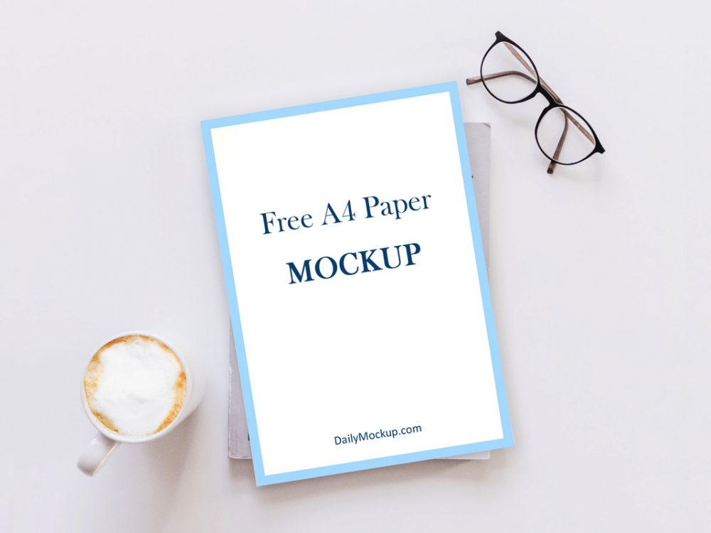 Download A4 Mockup Free PSD Template 2020 - Daily Mockup