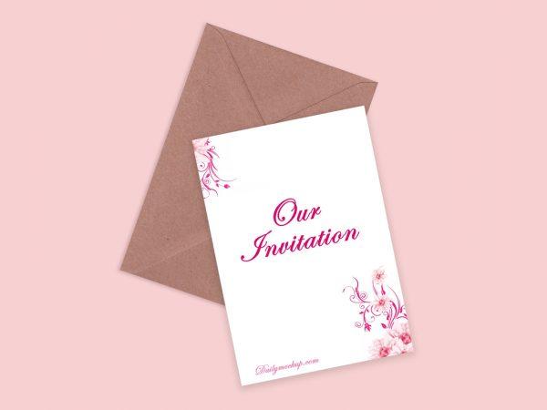 free invitation mockup psd templates