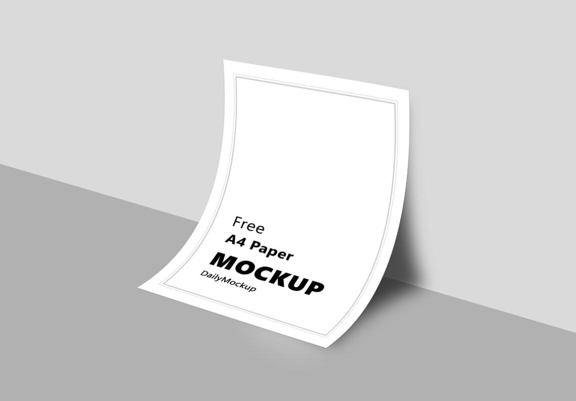 Download A4 Paper Mockup Free PSD 2020 - Daily Mockup