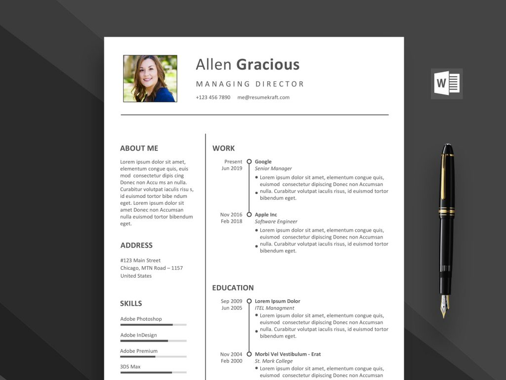 The selected font styles offer a superior typographic range and help you build a resume that provides an engaging reading experience, both online and offline. Word Resume Template Free Download 2021 Daily Mockup