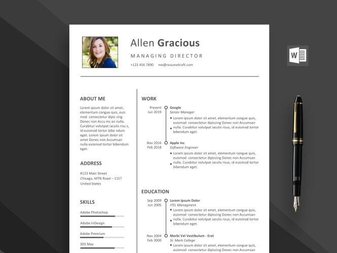 Word Resume Template Free 2020