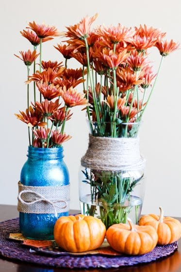 Cheap  Chic Thanksgiving Centerpiece  Daily Mom