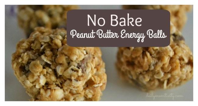 No bake PB energy balls