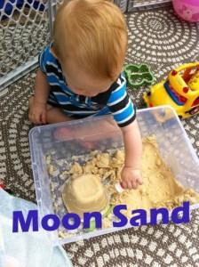 Rainy Day Activity Part 2 Moon Sand