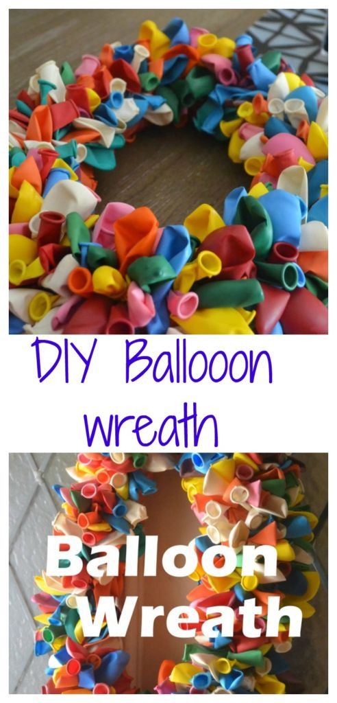 A fun and easy DIY birthday balloon door wreath tutorial http://dailymomtivity.com