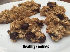 Banana Oatmeal Cookies {Healthy Cookies}