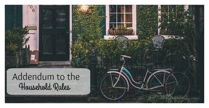 My take on household rules