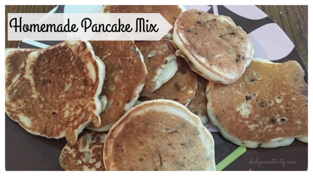 Homemade pancake mix is easy to do and a makes delicious pancakes everytime!
