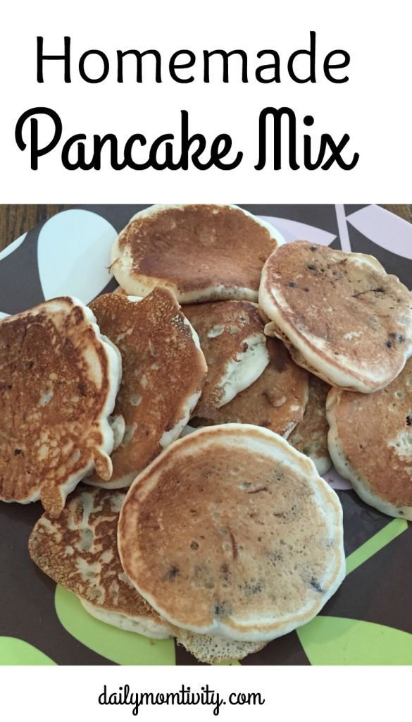 homemade pancake mix is perfect to make ahead and have on hand when you want some delicious, fluffy pancakes http://dailymomtivity.com