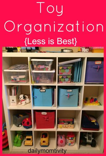 toy organization, dailymomtivity