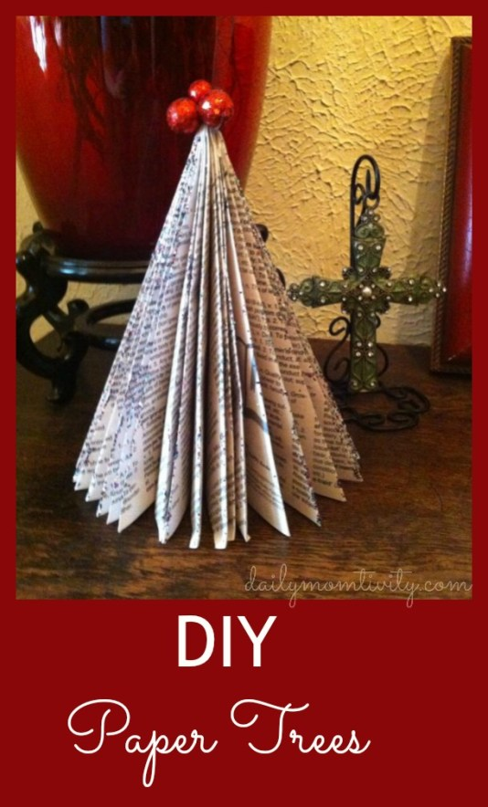 DIY paper trees