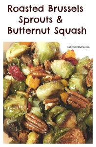 Roasted Brussels Sprouts & Butternut Squash Veggie