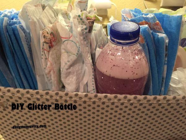 Glitter Jar Diaper Caddy