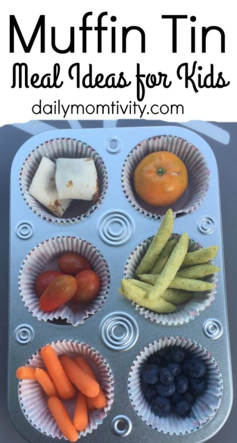 Your kids will love muffin tin meals! Take several little snacks and put them in cupcake liners to make a fun meal http://dailymomtivity.com