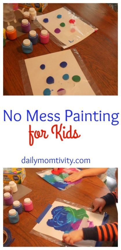 A fun kid's activity that makes NO Mess and they will love it!