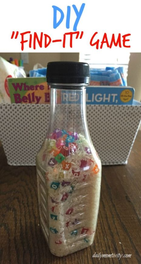 "A DIY ""Find-It"" game is perfect for when you are needing something to keep your kids attention while potty training! Make one today! #Pottytraintogether #AD"
