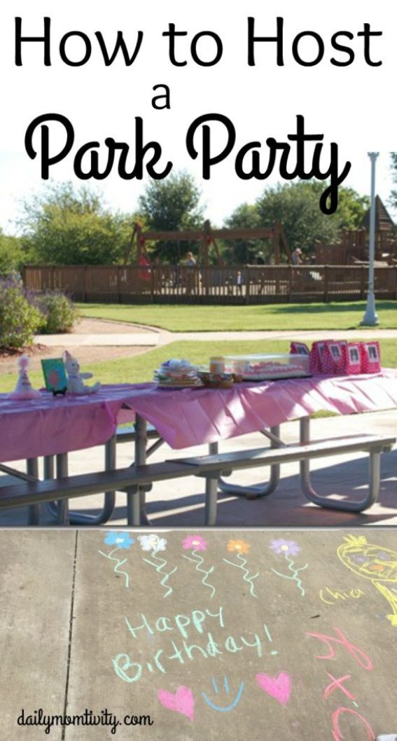 Looing for a cheap birthday party location? Try the park! It's usually free (or really cheap) and has built in fun for all ages. See all about how to host a park birthday party https://dailymomtivity.com