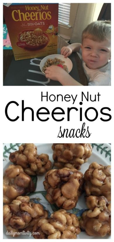 2 kid friendly snack ideas with Honey Nut cherrios! #HoneyNutCheerios #NuestroCereal #ad
