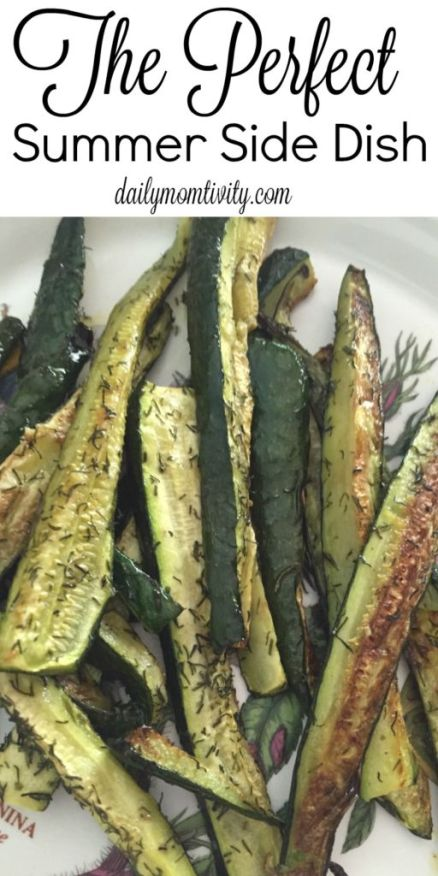 Roasted dill veggies, the perfect summer side dish to any summer meal http://dailymomtivity.com