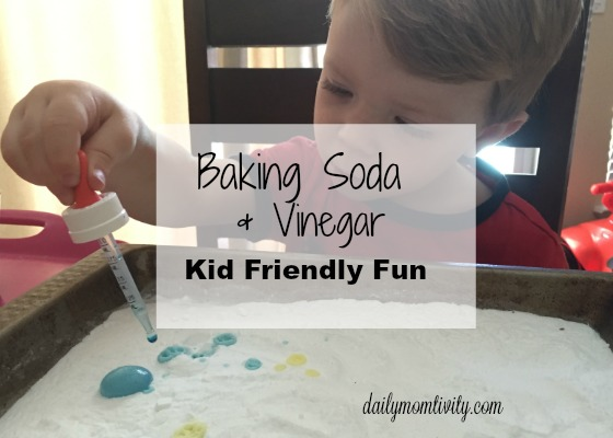 Baking Soda Vinegar Kid Activity