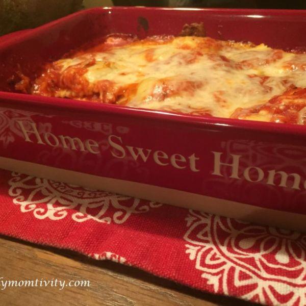 Baked Ravioli {Lazy Lasagna}