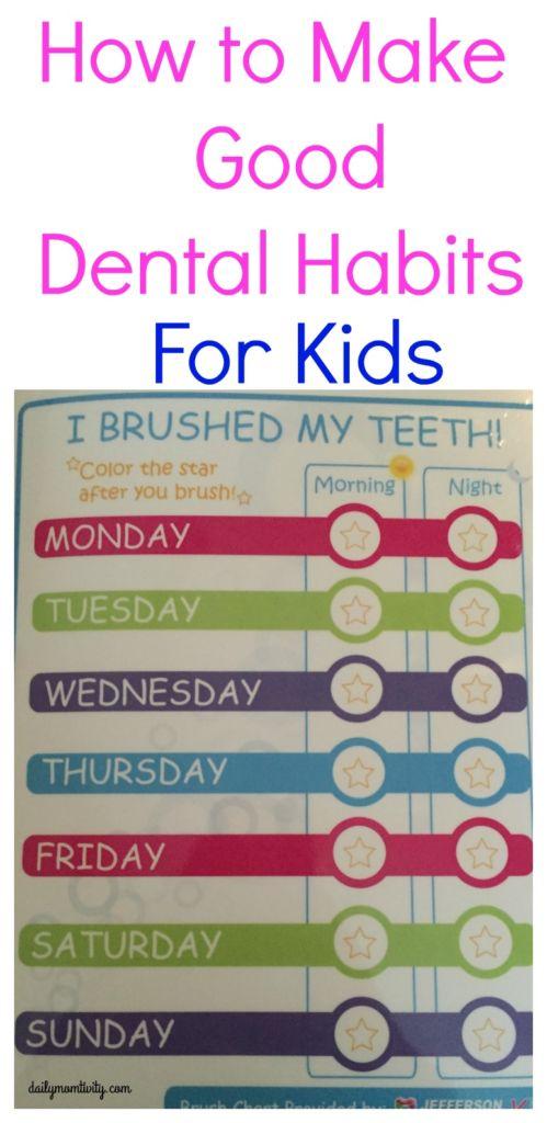 How to make good dental habits for your kids #Back2Smiles