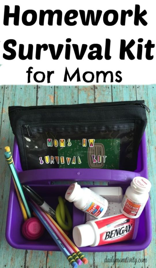 Be ready for all the hw coming your way with back to school with this easy DIY hw caddy and survial kit for Moms #BacktoSchool #PositivelyPrepared #ad