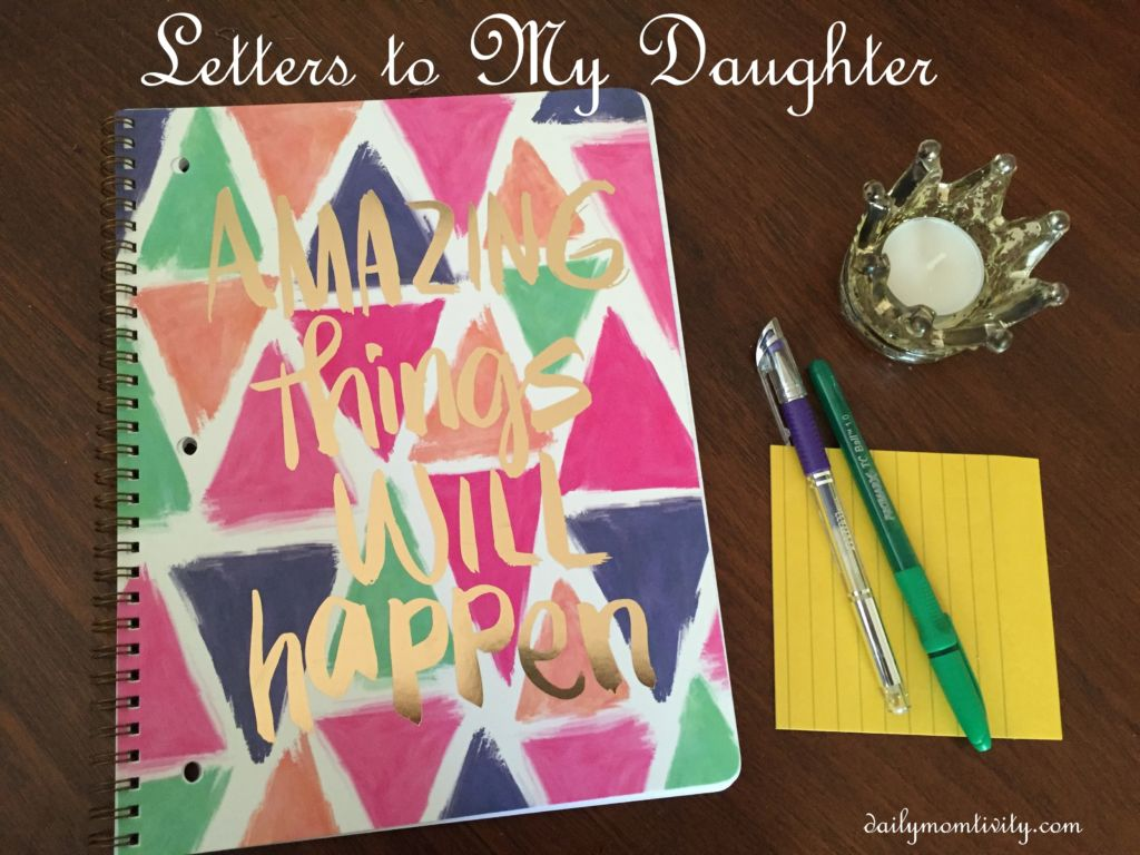 Mother/Daughter letters to each other