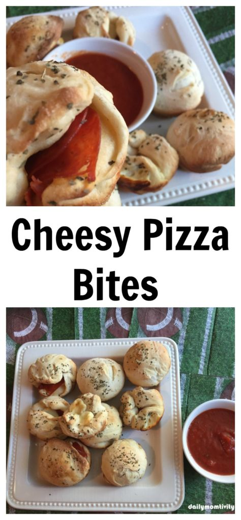 Cheesy Pizza Bites, perfect for your game day and party! #Tailgreatness #ad