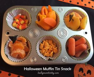 Halloween Muffin Tin Snack Idea
