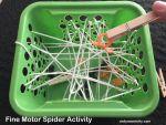 Toddler Fine Motor Spider Activity