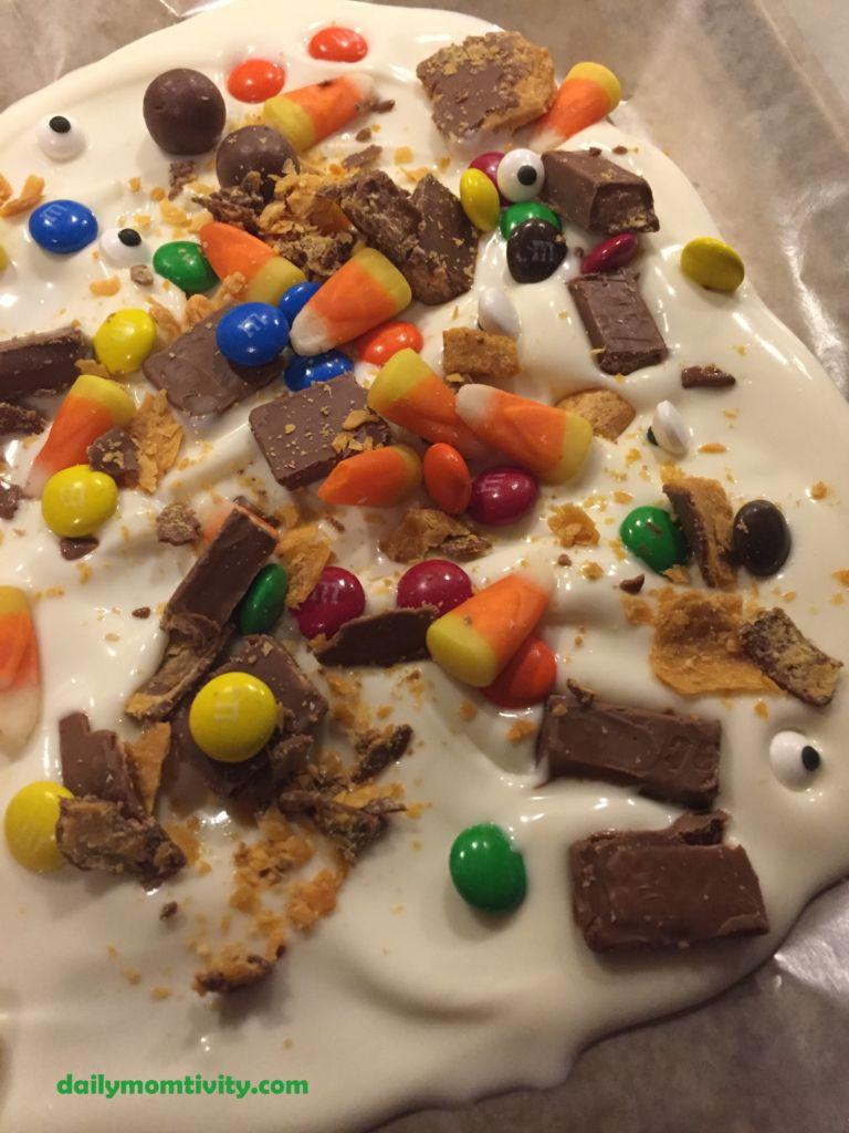 White chocolate candy bark
