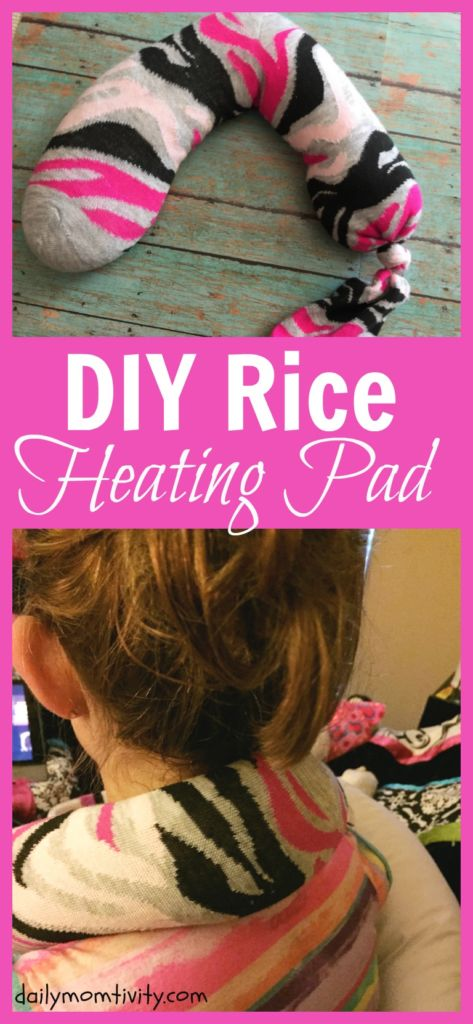 Follow this easy tutorial for an easy DIY rice heating pad to help sore muscles and cold feet this winter! #HealthySavings #ad