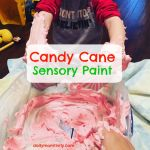 Candy Cane Sensory Paint