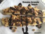Banana Peanut Butter Granola Snack