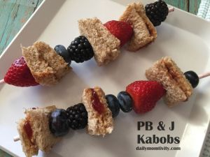 Peanut Butter & Jelly Kabobs