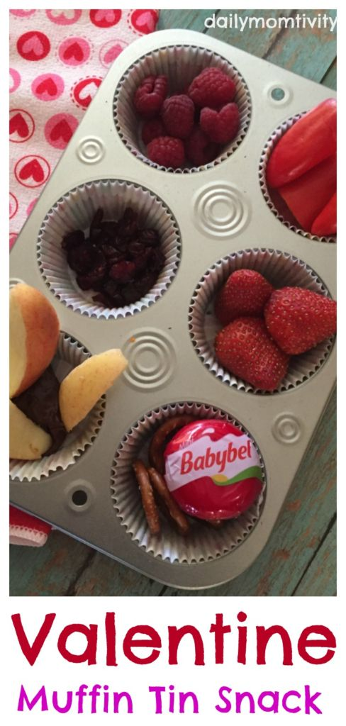 All red snacks for a fun Valentine's Day Snack in muffin tins
