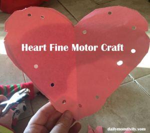 Preschool Fine Motor Heart Activity