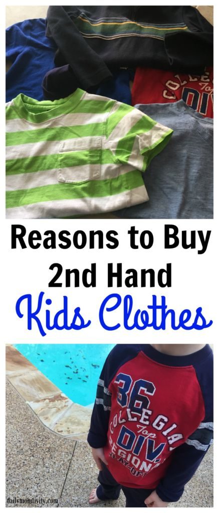 Reasons to Buy 2nd hand kids clothes