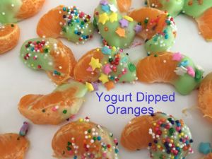 Yogurt Dipped Oranges
