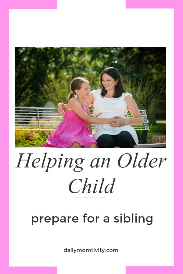 Helping an older child prepare for a sibling with these tips