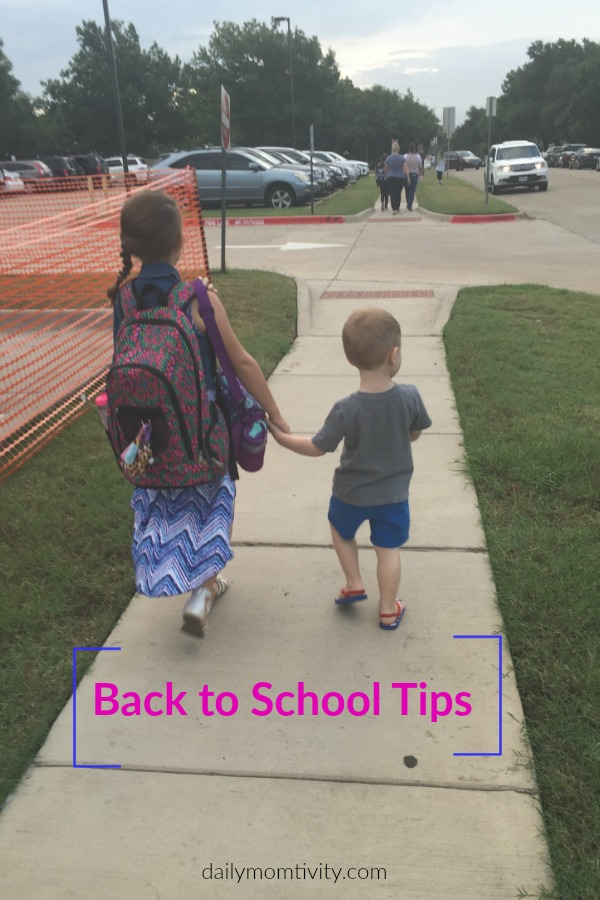 Back to School Tips and Ideas for an easy transition