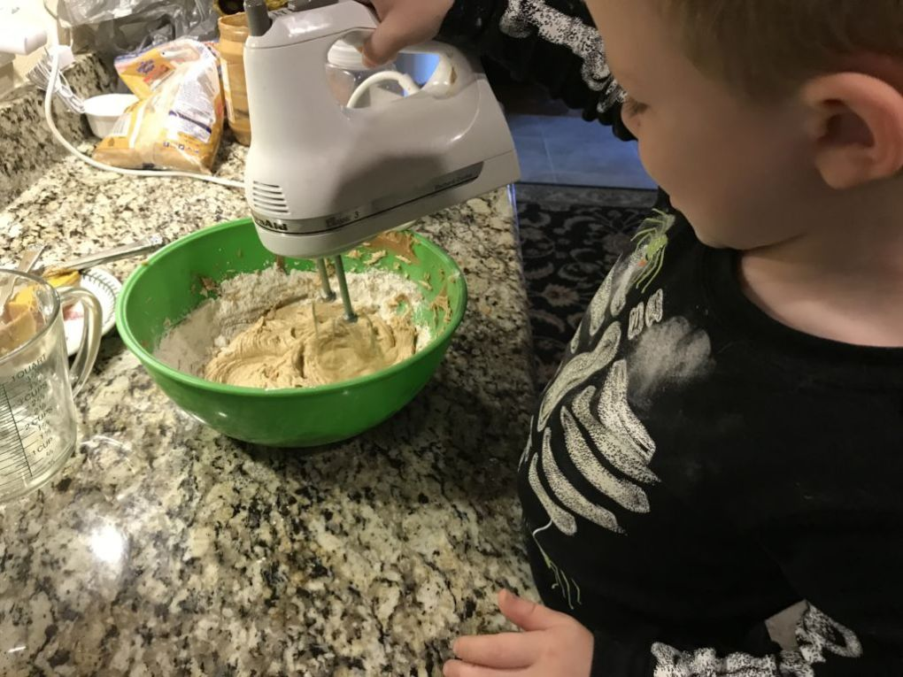 monster cookie making