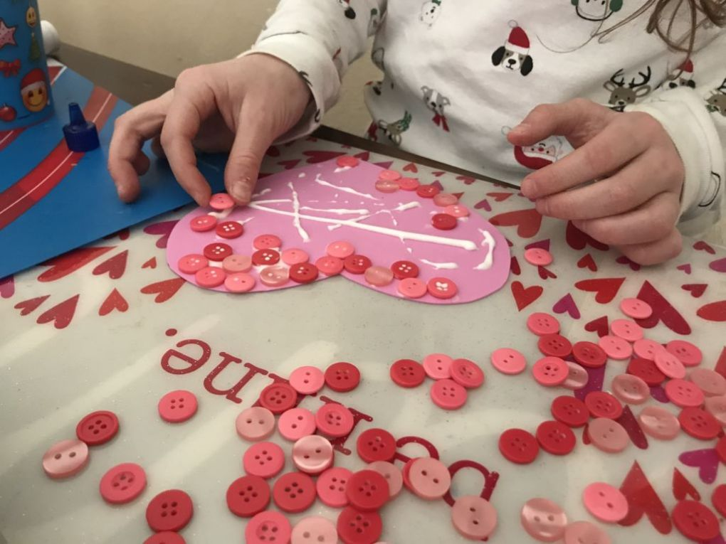 button heart craft