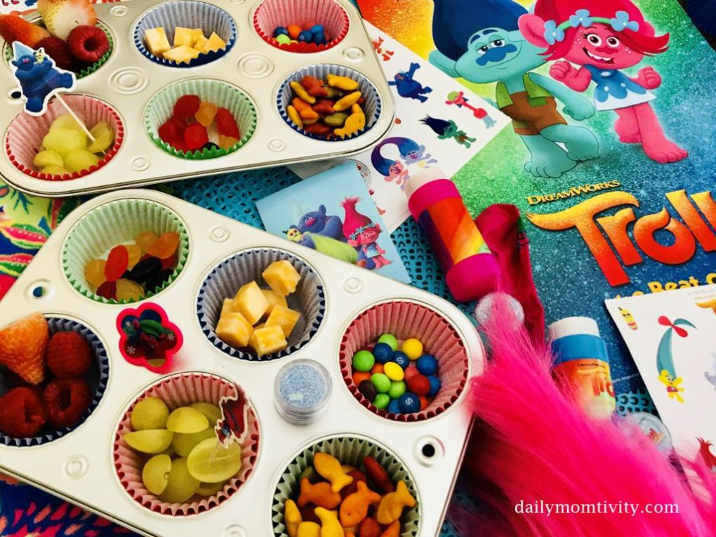 Trolls Muffin Tin Snacks