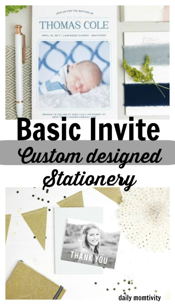 Basic Invite for all of your custom designed stationery needs , wedding invites, graduation announcements, thank you cards,
