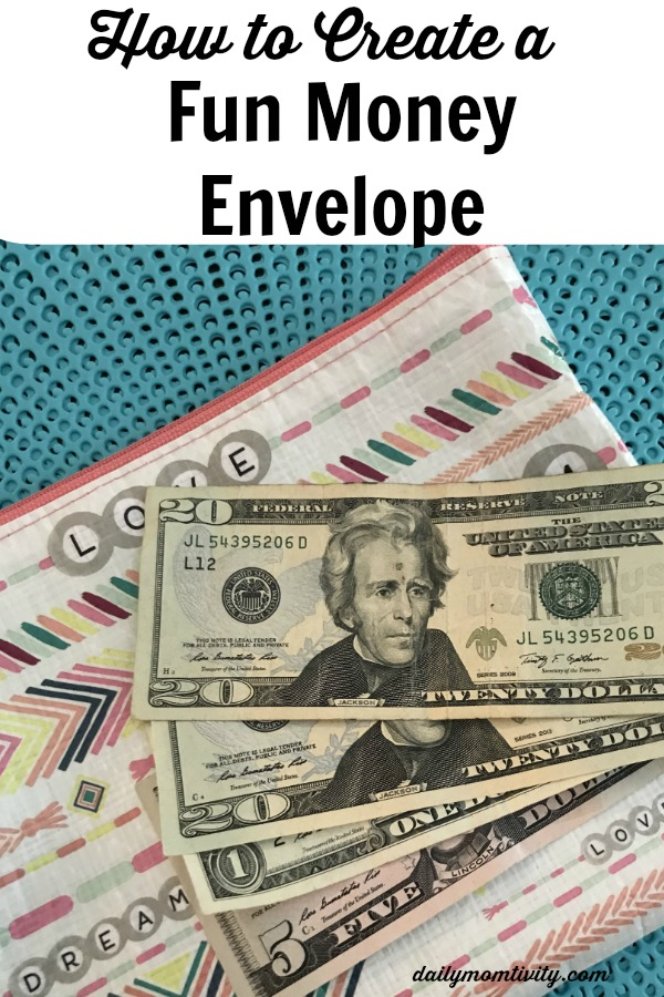 How to create a fun money envelope! Simple ways to save up money and use it on fun things