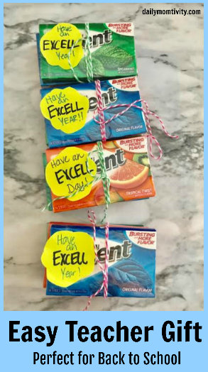 An easy gift idea using Trident Gum! Perfect for teachers for friends and great for Back to School time!